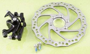 Механизм диск.тормоза передний + диск DE-P1816  MT-1814 F160/R140mm 160mm