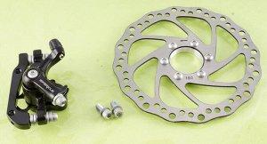 Механизм диск.тормоза задний + диск DE-P1816  MT-1816 F180/R160mm 160mm