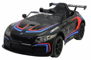 Машина на аккумуляторе для катания детей 6666R BMW (белая, черная)
