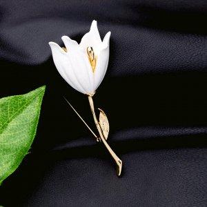 Брошь Белая Лилия