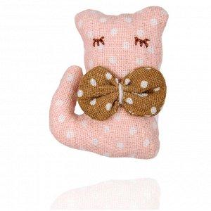 Брошь розовый котенок