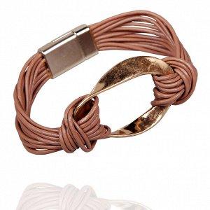 Кожаный коричневый браслет