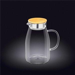 WILMAX Thermo Glass Термо кувшин с деревянной крышкой 1500мл WL-888215A