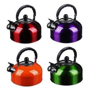 Чайник стальной цветной 2.3 л (052)