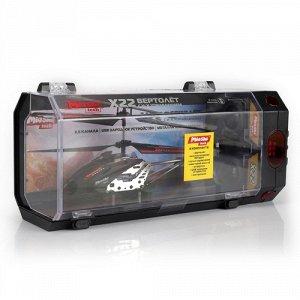 Вертолет р/у Mioshi Tech Х22 ,черный,22 см, USB, пласт. чемоданчик