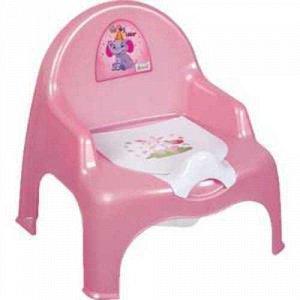 Детский горшок-кресло розовый/малиновый   Dunya Plastik 30*29*34 см