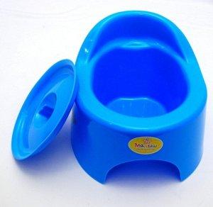 Горшок детский туалетный с крышкой Полимерсбыт 22*22*16 см