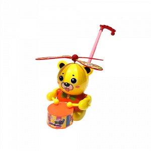 Каталка с ручкой Мишка-барабанщик, пакет