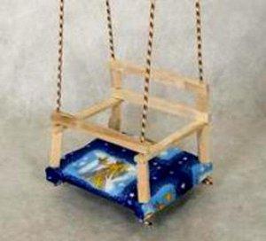 Качели подвесные детские №2 с мягкой сидушкой  (5)