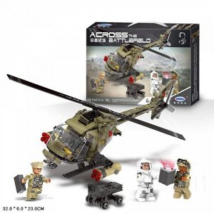 Конструктор 621 дет. Военный вертолет , кор.32*6*23  см.
