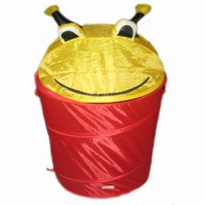 """Корзина для игрушек """"Глазастик"""" красный/желтый"""