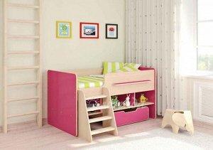 Кровать детская Легенда 6 ,цвет венге светлый/розовый (для детей до 12 лет)  *