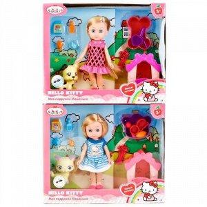 """Кукла """"Карапуз"""" Hello Kitty. Машенька с питомцем , кор. 25*20*7,5 см"""