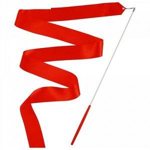 Лента гимнастическая 2 м. с палочкой , цв. красный