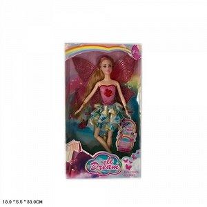 Кукла Фея с подвижными суставами , кор. 18*5,5*33 см.