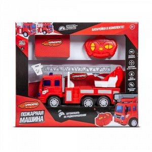 """Машина р/у """"Handers"""" Пожарная машина.Автолестница, 27 см, свет, звук."""