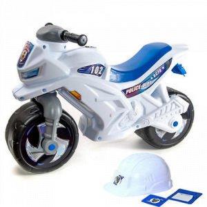 Мотоцикл (толокар) 2-х колесный 68 см. (шлем, значок,проторок) муз. до 30кг.