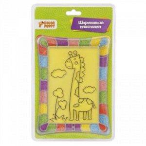 """Набор для творч. """"Жирафик"""" (пласт. картина, шариковый пластилин) блистер, 28*17 см"""