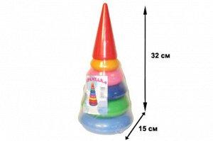 Пирамидка Конус малый 5 колец, 32см.