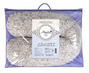 """Подушка для беременных """"AmaroBaby"""" 25*170 см. (файбер, бязь) дамаск кофе"""