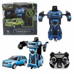 Робот-трансформер р/у Джип , 20 см, синий