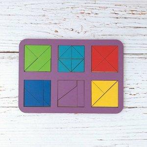 Сложи квадрат Б.П. Никитин , 6 квадратов ур.3 (дерево)