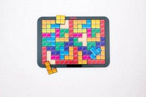 Тетрис большой Цветная мозаика (дерево) 28,5*19,5*0,6 см
