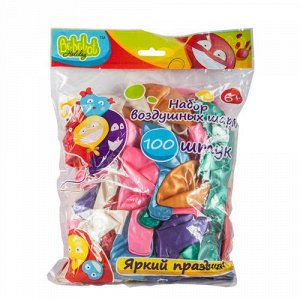 Набор воздушных шариков  Bebelot Holiday (100 шт. 30 см. разноцветные), пакет