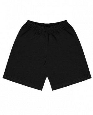 Чёрные спортивные шорты для мальчика Цвет: черный