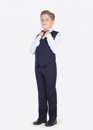 Жилетка синяя для мальчика размер 128