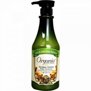 Гель для душа с Алоэ и Зеленым чаем Organia Aroma Green Body Cleanser