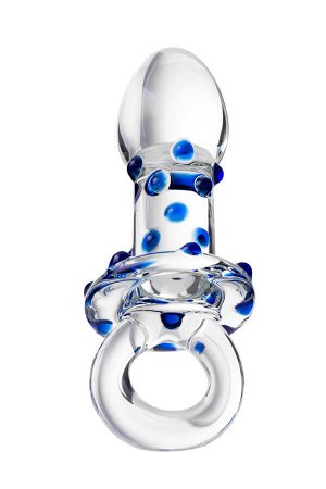 Анальная втулка Sexus Glass, стекло, прозрачная, 14 см, ? 3,5 см