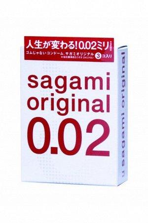 Презервативы Sagami Original 0.02  УЛЬТРАТОНКИЕ,гладкие №3