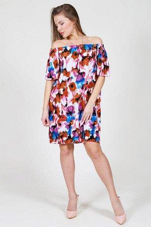 Женское платье П-25-К (Красные цветы)