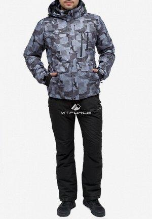 Мужской зимний костюм горнолыжный серого цвета 018122-1Sr