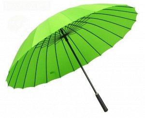 Зонт трость. Цвет ярко-зеленый.