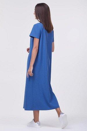 Платье Ольга №1.Цвет:светло-синий