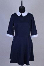 Габардиновое платье мини на молнии