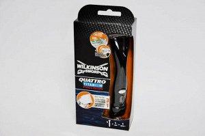 Станок для бритья Wilkinson Sword  Quattro Titanium Precision + триммер (1 кассета) | Star-Skin