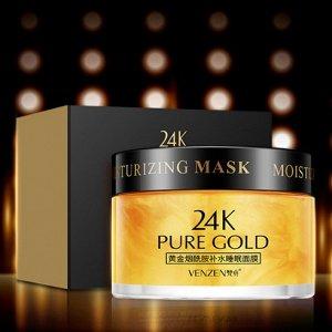 Ночная маска с золотом, Venzen 24k Gold, 120 г
