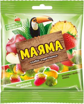 «Маяма», мармелад жевательный со вкусом ананаса, яблока и клубники