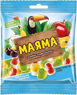 «Маяма», мармелад жевательный со вкусами банана, яблока, вишни со сливками