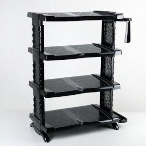 Полка для обуви с ложкой «Комфорт», 4 яруса, 56?32?70 см, цвет чёрный