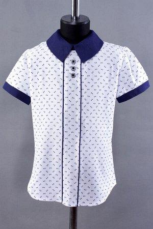 Х/б блузка на молнии c вырезом