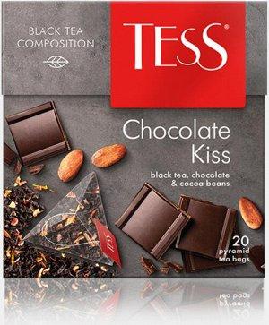Чай Tess Chocolate Kiss, 20 пирамидок