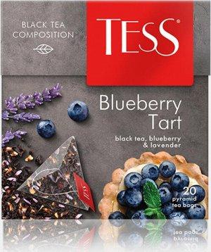 Чай Tess Blueberry Tart в пирамидках, 20 пирамидок