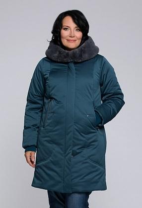 """Пальто """"Габриэль""""  сине-зеленый"""
