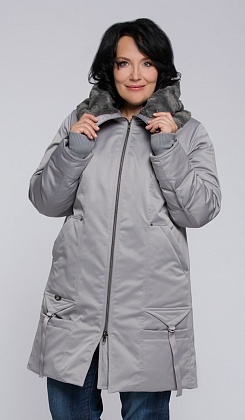 """Пальто """"Дарьяна""""  серый"""