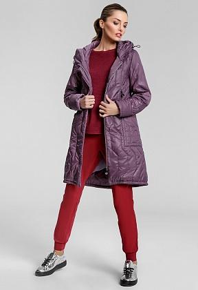 """Пальто """"Элейн""""  фиолетовый"""