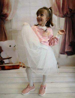 Костюм для девочки. Платье + свитшот.